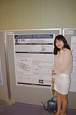 M.Sc. Kyeong-Sill Lee mit ihrem Poster bei der ACTS (Asian Crystallization Technology Symposium) Nara, Japan